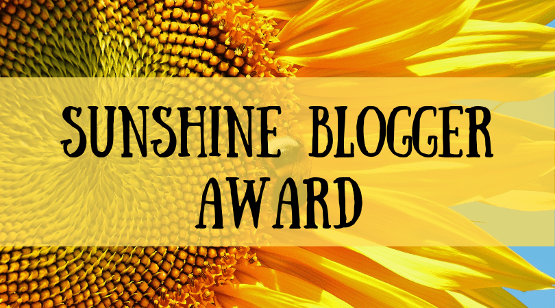 Sunshine Blogger Award - Just muddling through life